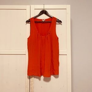 Joie 100% silk red tank top size Large